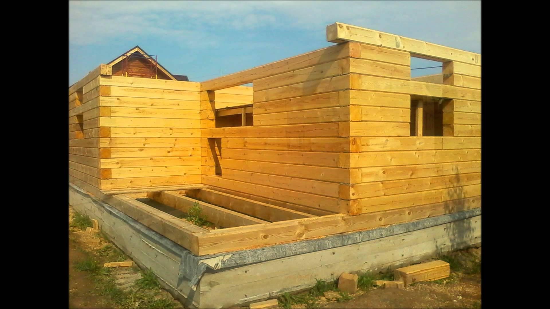Построить дом из бруса 200х200 своими руками
